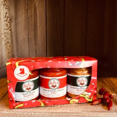 Bipia-3er Geschenk-Set mit Piment d'Espelette AOP_Senf Chutney Puree