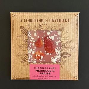 Comptoir de Mathilde_Vollmilchschokolade mit Meringues und Erdbeeren