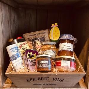 Geschenk-Set-Ostern-Holzbox Grand Gourmet