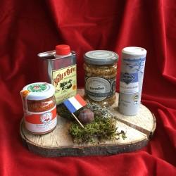 Geschenk-Set auf Baumscheibe-Cuisine