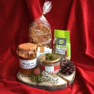 Geschenk-Set auf Baumscheibe-Gourmet