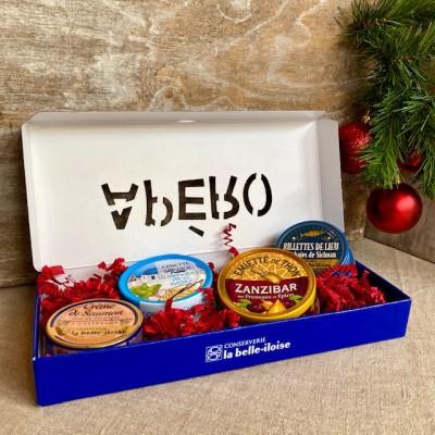 Iloise-Geschenkbox Apéro-Brotaufstriche mit Fischspezialitäten-Weihnachten1