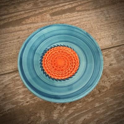 La petite Provence-Knoblauchreibe-orange-blau-10,5cm