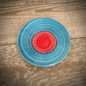 La petite Provence-Knoblauchreibe-rot-blau-10,5cm