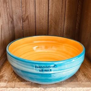 La petite Provence-Salatschale-gross-gelb-blau-25cm