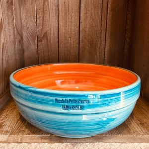 La petite Provence-Salatschale-gross-orange-blau-25cm