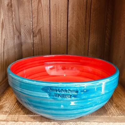 La petite Provence-Salatschale-gross-rot-blau-25cm