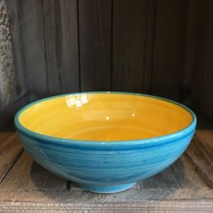 La petite Provence-Salatschale-klein-gelb-blau-18cm