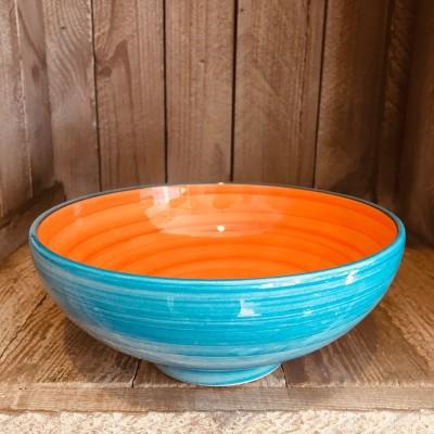 La petite Provence-Salatschale-klein-orange-blau-18cm