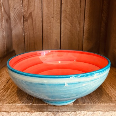 La petite Provence-Salatschale-kleine-rot-blau-18cm