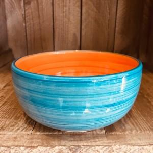 La petite Provence-Schale-tief-orange-blau-13cm