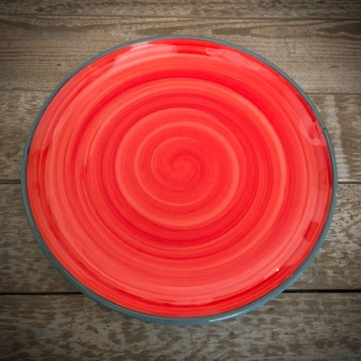 La petite Provence-Teller-groß-rot-blau-27cm