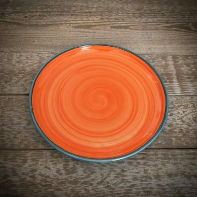 La petite Provence-Teller-orange-blau-23,5cm