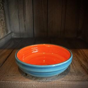 La petite Provence-flache Schale-orange-blau-13cm