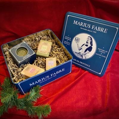 M. Fabre-Seifenbox aus Metall mit festen Olivenölseifen - ohne Palmöl.Weihnachten2020.1
