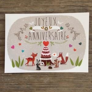 Postkarte Anniversaire Geburtstag.1