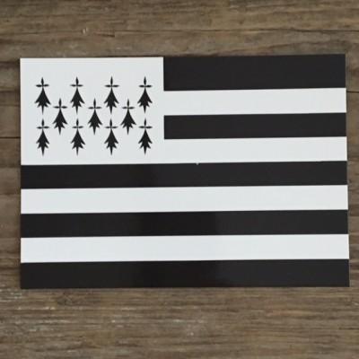 Postkarte Bretagne Flagge