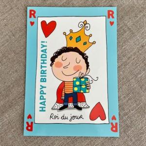 Postkarte Geburtstagskarte-König des Tages
