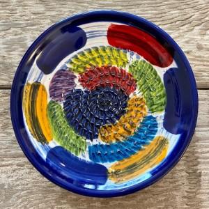 Poterie Ventoux-Knoblauchreibe-blaue rechtecke