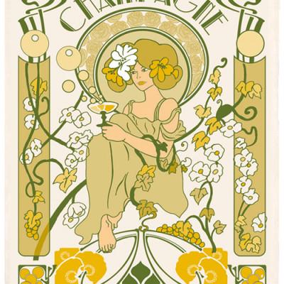 Torchons&Bouchons_Champagne Art Deco