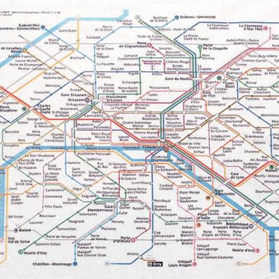Winkler-Geschirrtuch-Pariser Metroplan